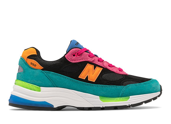 New Balance M992RE MADE IN THE USA Sneaker | black/teal/pink/orange