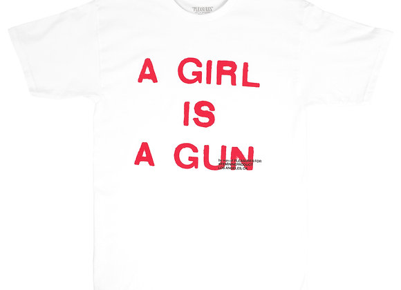Pleasures GIRL IS A GUN T-Shirt | white