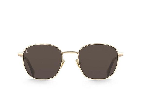 Raen ALAMEDA Polarized Sunglasses | satin japan gold/tortoise/dark brown