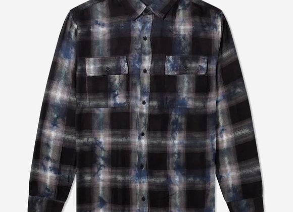 Ksubi VENOM L/S Shirt | tie-dye black/blue