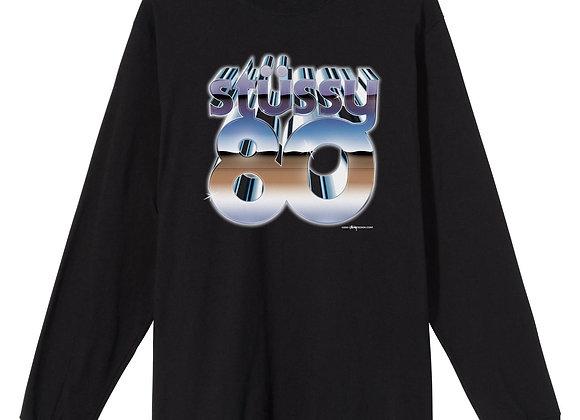 Stussy 80 CHROME L/S T-Shirt | black