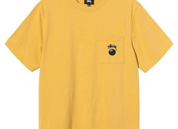 Stussy8 Ball Pocket Crew T-Shirt | mustard