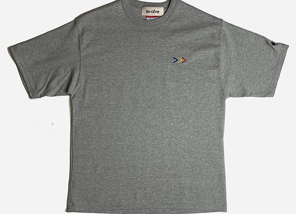 Evolve X Champion GREATER THAN T-Shirt | grey heather
