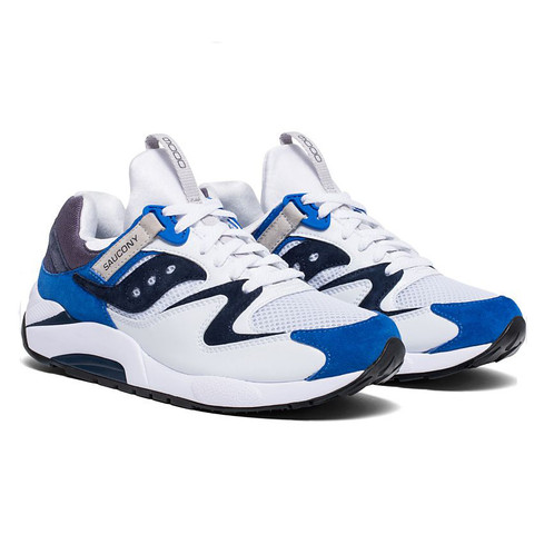 free shipping 6ab95 074ba Saucony GRID 9000 Premium Suede Sneaker   white blue