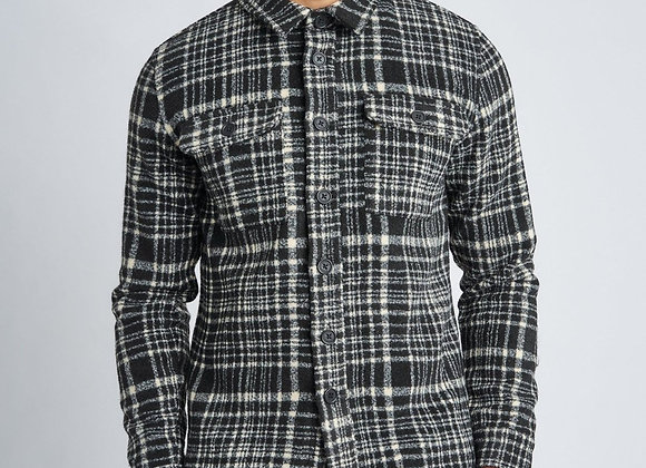 Native Youth JAXON OverShirt | black/off white