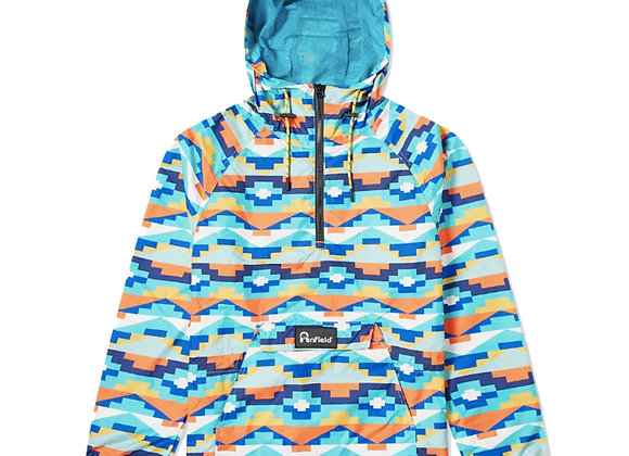 Penfield PAC JAC GEO Packaway Jacket | teal print