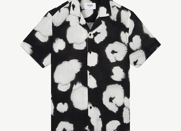 Wax London DIDCOT Shirt | black poppy