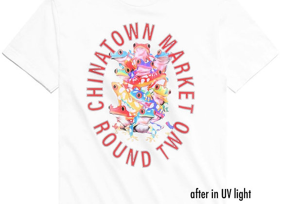 Chinatown Market X Round Two FROGS UV T-Shirt | white
