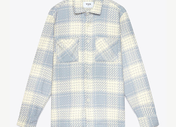 Wax London WHITING Woven Overshirt | ecru raindrop
