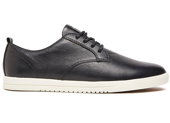 Clae ELLINGTON LEATHER | black tumbled leather cream