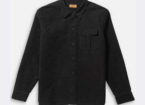 Saturdays NYC BROOME MOLESKIN L/S Shirt/Overshirt | black