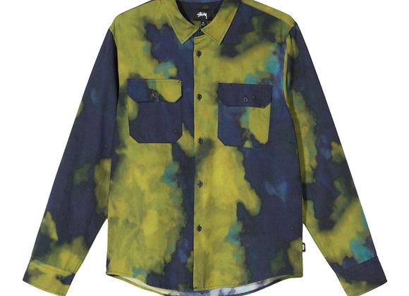 Stussy DARK DYE Work Shirt   navy