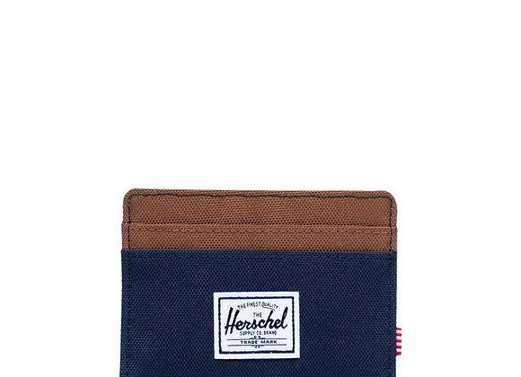 Herschel CHARLIE Wallet | peacoat/saddle brown