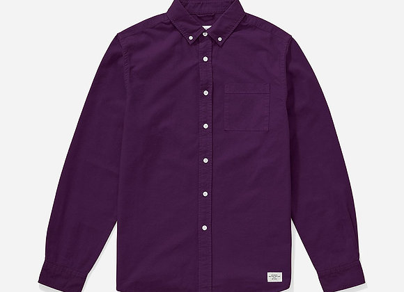 Saturdays NYC CROSBY Oxford L/S Shirt   dark plum