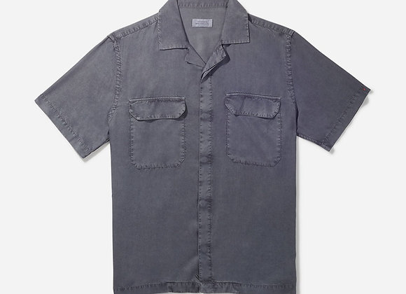 Saturdays NYC GIBSON Double Pocket S/S Shirt | steel