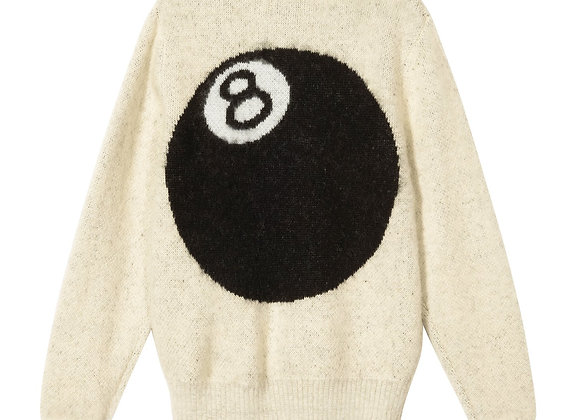 Stussy 8 BALL Heavy Brushed Mohair Sweater | off white