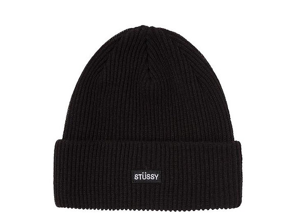 Stussy Small Patch Watchcap Beanie | black