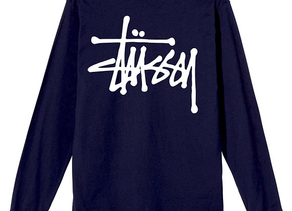 Stussy BASIC LS T-Shirt | navy
