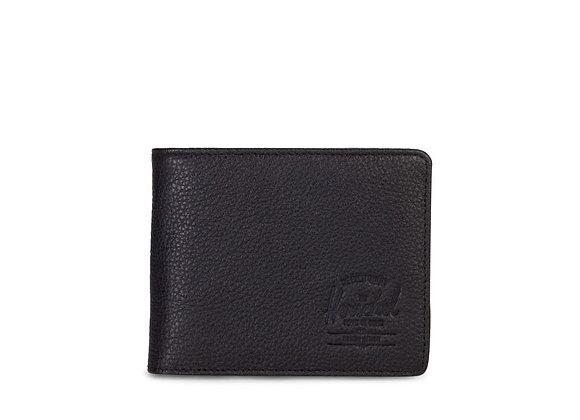 Herschel Supply Co HANK+ Wallet | black pebbled leather/RFID