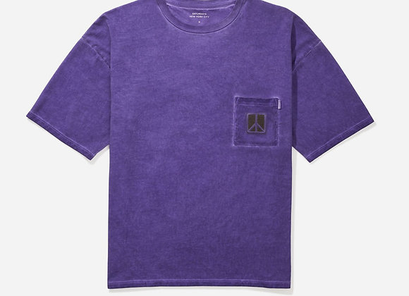 Saturdays NYC PEACE Washed Tee | amethyst