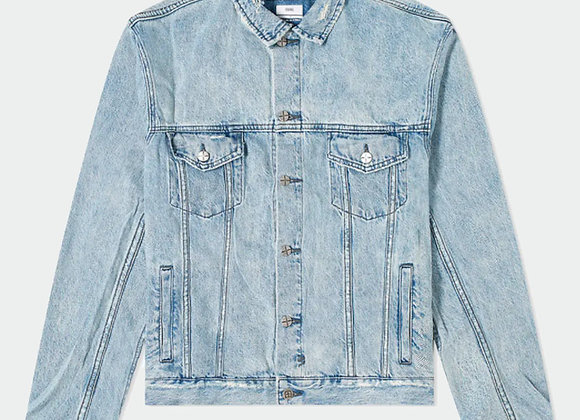 Ksubi OH G ACID TRIP TRASH Denim Jacket | stone wash blue