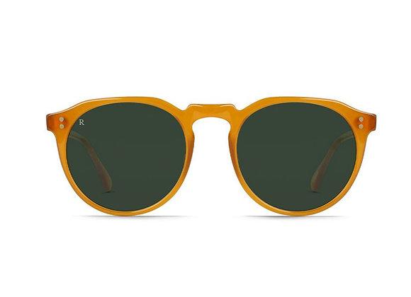 Raen REMMY Retro Sunglasses | honey/green polarized