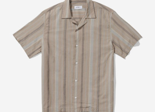 Saturdays NYC CANTY BAY Stripe S/S Shirt   british khaki