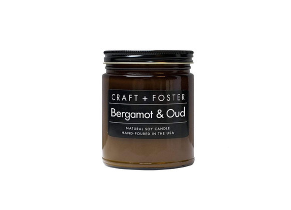 Craft + Foster BERGAMOT & OUD Soy Wax Candle | 8oz