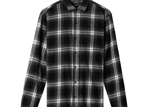 Wings + Horns OMBRE Flannel Shirt | black