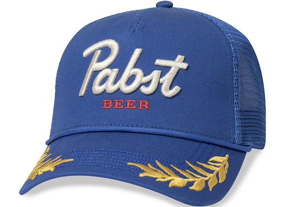 "Pabst Blue Ribbon ""General"" Trucker Hat   blue"