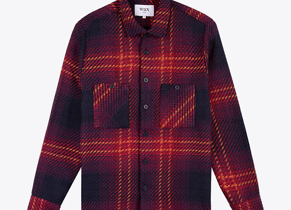 Wax London WHITING Woven Overshirt | ombre giant windowpane