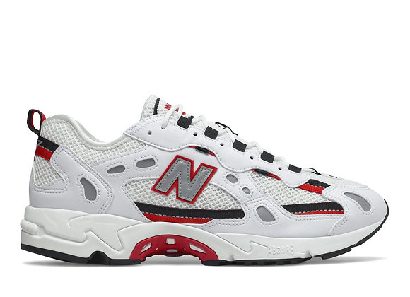 New Balance ML827 AAB Sneakers | white/black/red