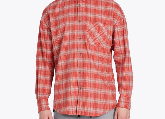 Zanerobe RUGGER LS Shirt | vintage red/grey marle
