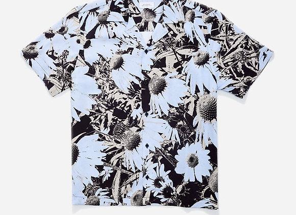 Saturdays NYC CANTY DAISY PRINT S/S Shirt | sky blue