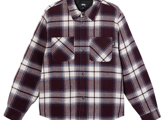 Stussy MAX PLAID Quilted Shirt | burgundy