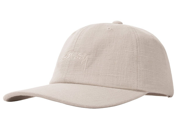 Stussy TEXTURED Linen Low Pro Cap | off white