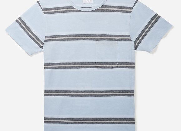 Saturdays NYC RANDALL STRIPE T-Shirt | sky blue