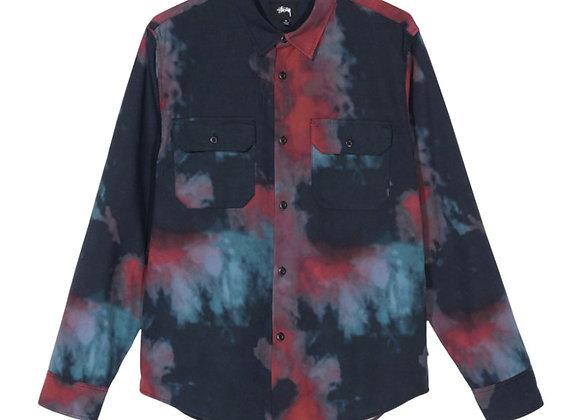 Stussy DARK DYE Work L/S Shirt | black