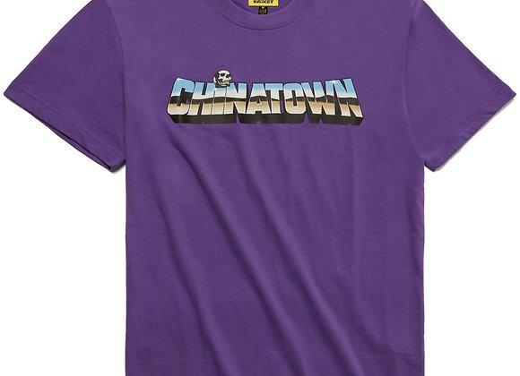 Chinatown Market CHROME SKULL T-Shirt | purple