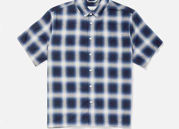 Saturdays NYC BRUCE Ombre Plaid S/S Shirt | midnight