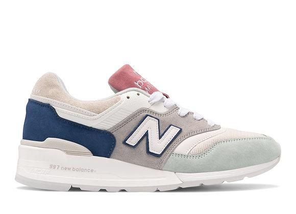 New Balance M997SOA Sneakers | silver/off white/aqua
