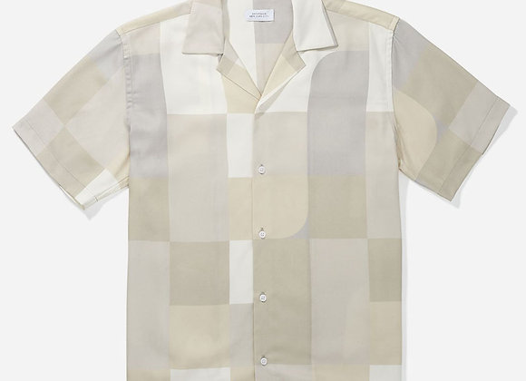 Saturdays NYC CANTY GEOBLOCK S/S Shirt | ivory