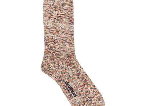 Druthers NYC RECYCLED COTTON MELANGE Crew Sock | oatmeal