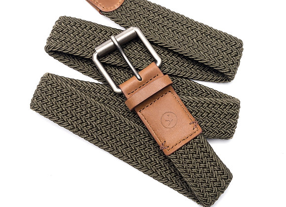 Arcade Smartweave Belt | olive/tan