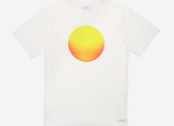 Saturdays NYC SUNRISE SUNSET S/S T-Shirt | ivory