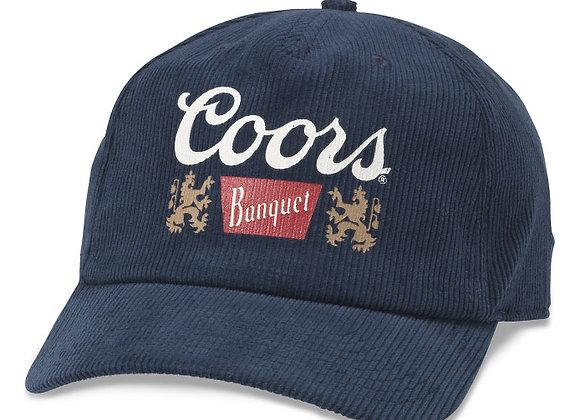 Coors Printed Corduroy Snapback | blue