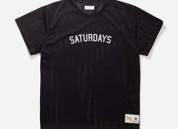 Saturdays NYC MARLEY MESH S/S T-Shirt | black