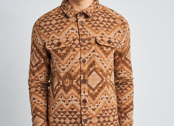 Native Youth ALARIC Wool OverShirt | beige