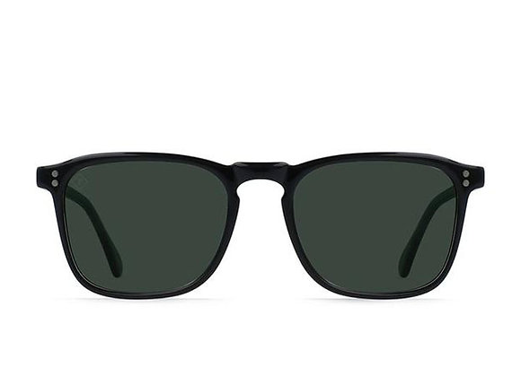 Raen Wiley Polarized Sunglasses | crystal black/green polarized