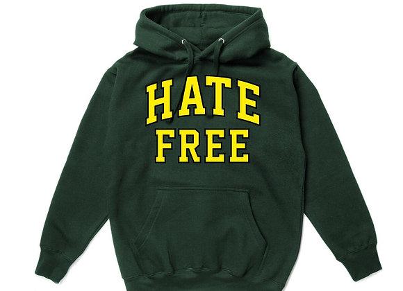 Pleasures HATE FREE Hoodie | green